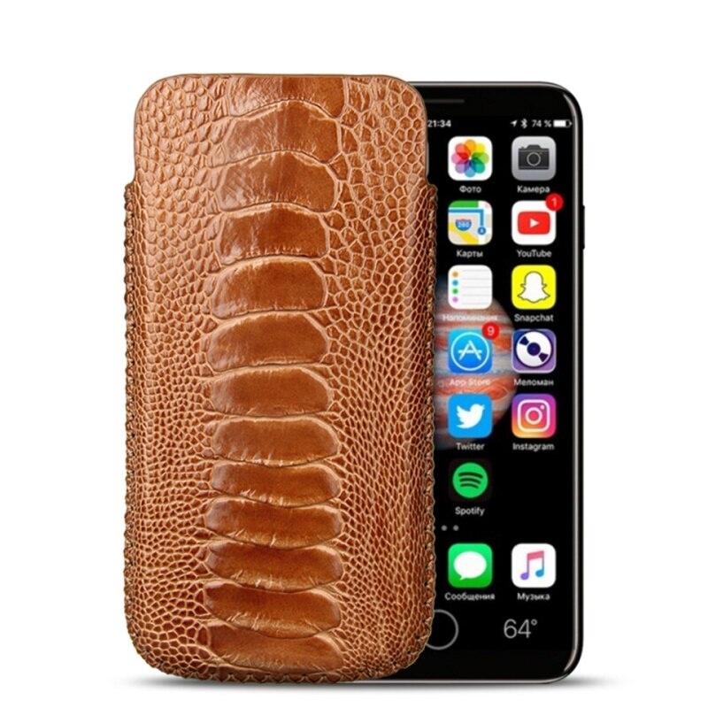 Модные из натуральной кожи ноги страуса кожа чехол для iPhone XS/XS MAX/XR/X оригинальный телефон чехол Сумки Чехол чехол кобура