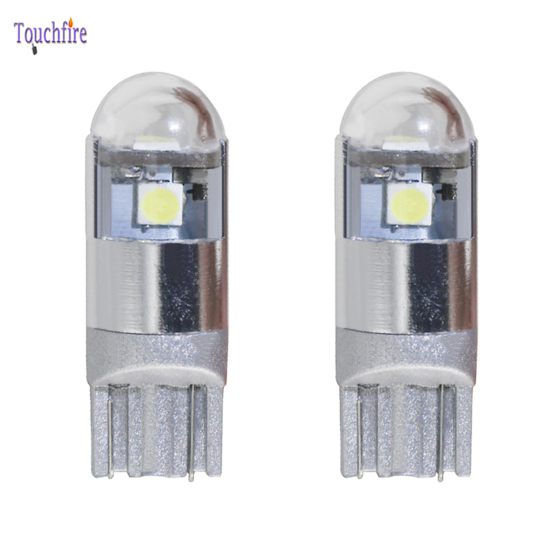 2pcs T10 3LED Car Bulb Dropshipping w5w 194 3030smd 180LM Auto Car 12v Width Interior Signal Brake Clearance light for ford/lada