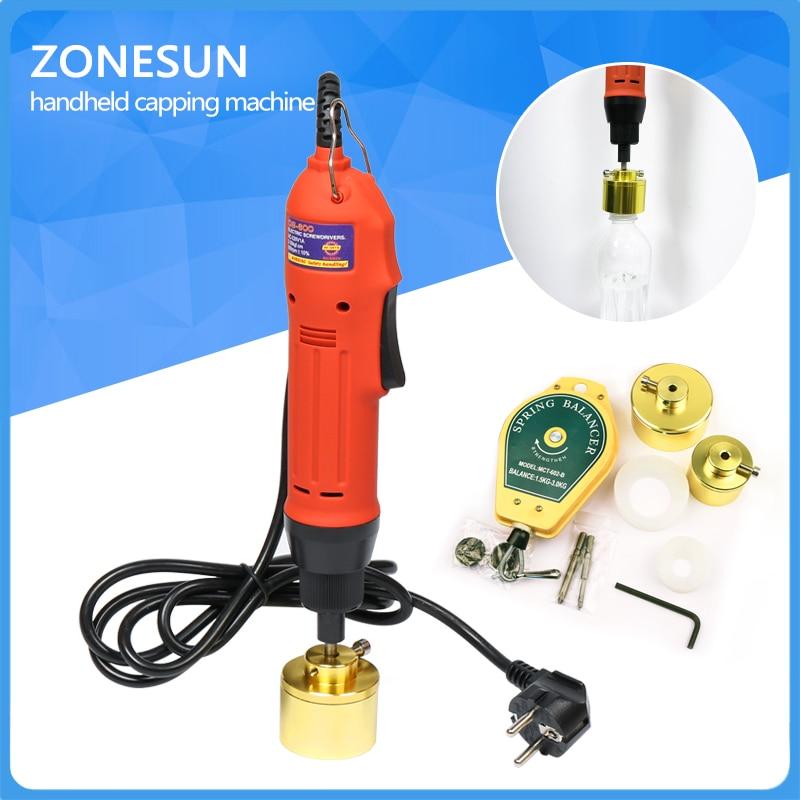 ZONESUN Manual electric Capping Machine for screw cap, screw capper plastic bottle capping machine capper(10-50MM)
