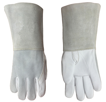 цена на Argon arc MIG Welding Glove Grain Goat Skin Leather TIG Welder Gloves