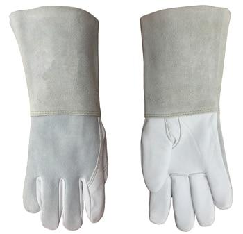 Argon arc MIG Welding Glove Grain Goat Skin Leather TIG Welder Gloves welding gloves gas welder gloves cowhide high temperature heat resistant arc tig mig leather work gloves