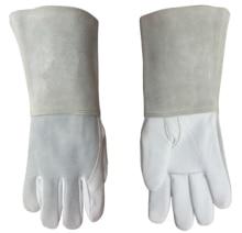 цена Argon arc Welding Glove Leather Welder Working Glove Grain Goatskin TIG Safety Glove MIG Leather Work Glove