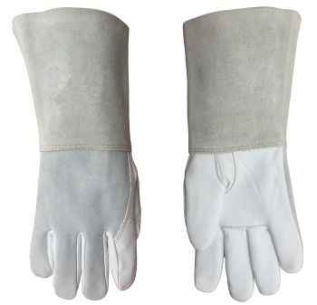 цена на Argon arc Welding Glove Leather Welder Working Glove Grain Goatskin TIG Safety Glove MIG Leather Work Glove