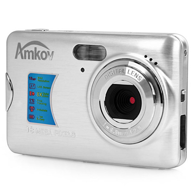 "Amkov 18 Megapixel Camara Fotografica Digital 2.7"" TFT LCD Display Portable Shoot Digital Cameras Face Tracking Video Camcorder"