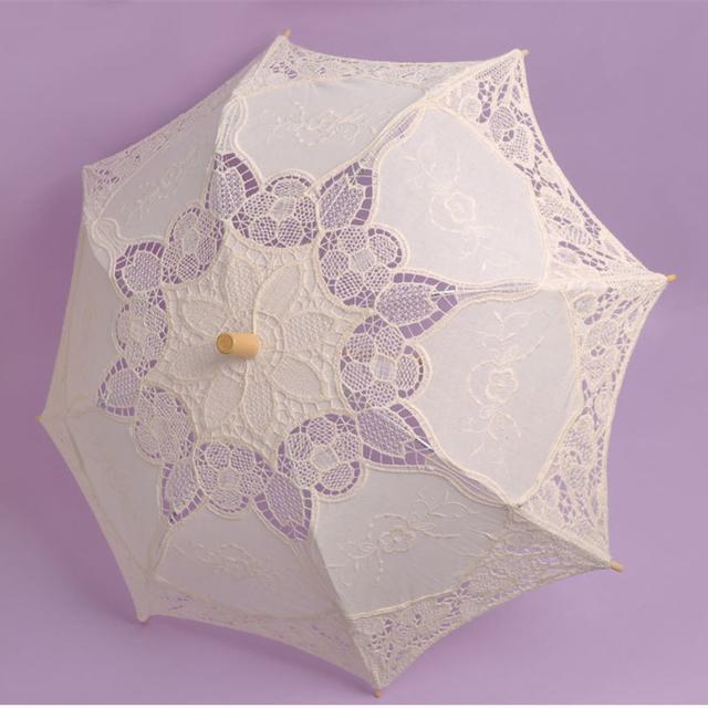 Sombrinhas Casamento Sombrinha de renda Feito À Mão Retro Lace Umbrella Parasol Para O Sol Para A Fotografia de Casamento Decoração Do Casamento BU99036