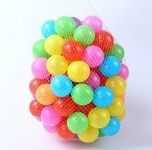 50pcs/lot 8cm Eco-Friendly Colorful Soft Plastic Water Pool Ocean Wave Ball Baby Funny Toys stress air ball outdoor fun sports