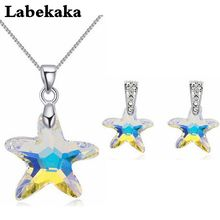 Buy swarovski starfish pendant and get free shipping on aliexpress 100 crystals from swarovski starfish jewelry sets for bridal pendant necklace piercing earrings women party aloadofball Image collections