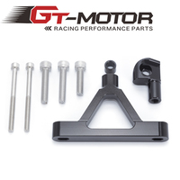 GT Motor CNC Motorcycle Adjustable Steering Stabilize Damper Bracket Mount Kit For Kawasaki ZX6R ZX 6R