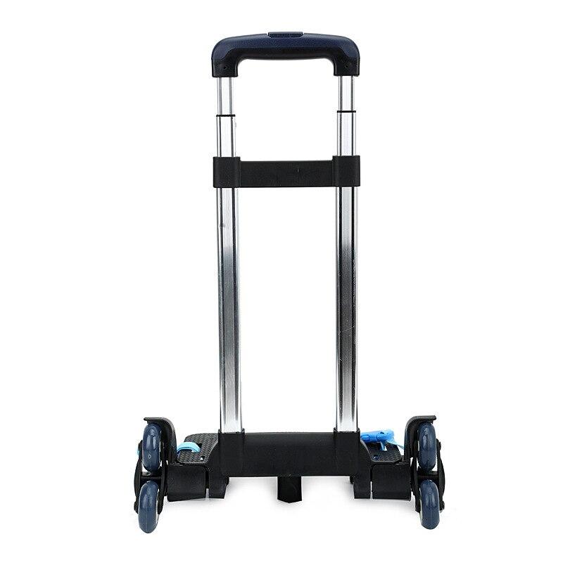 3 Wheel  Mochilas School Kids Bags Carry Fold Pull Rod Bracket Roll Cart Trolley
