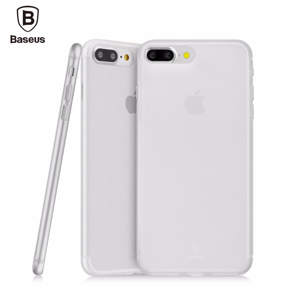 Baseus Slim Case thin PP full Rubber Cover case for iPhone 7 7 Plus 4 colors Anti-fingerprint PP soft Protective Shell