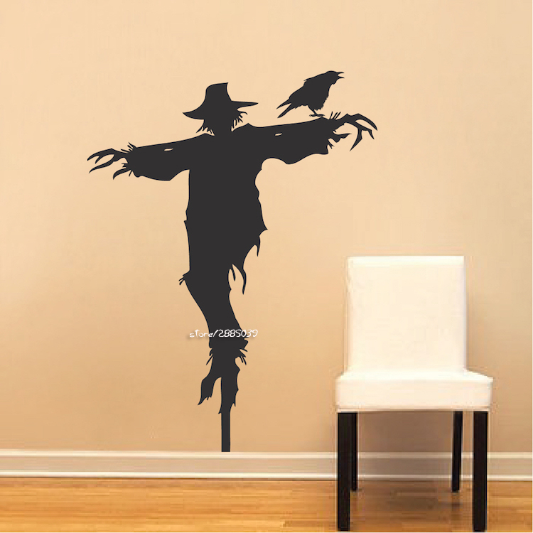 Scarecrow Vinyl Wall Stickers Removable Waterproof Wall Decals Decor ...