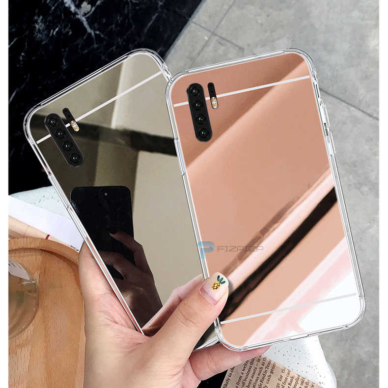 高級光沢のある Tpu ケース Huawei 社 P30 Lite P20 プロ 1080p スマート 2019 新 P スマート 2018 ゴムシリコーンミラー化粧カバー