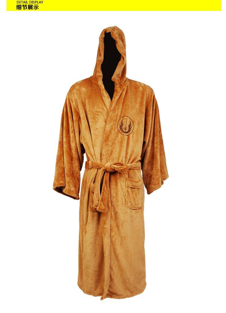 Star Wars Jedi Knight bathrobe Deluxe Bath Robe Cosplay Costume Brown bathing suits pajamas