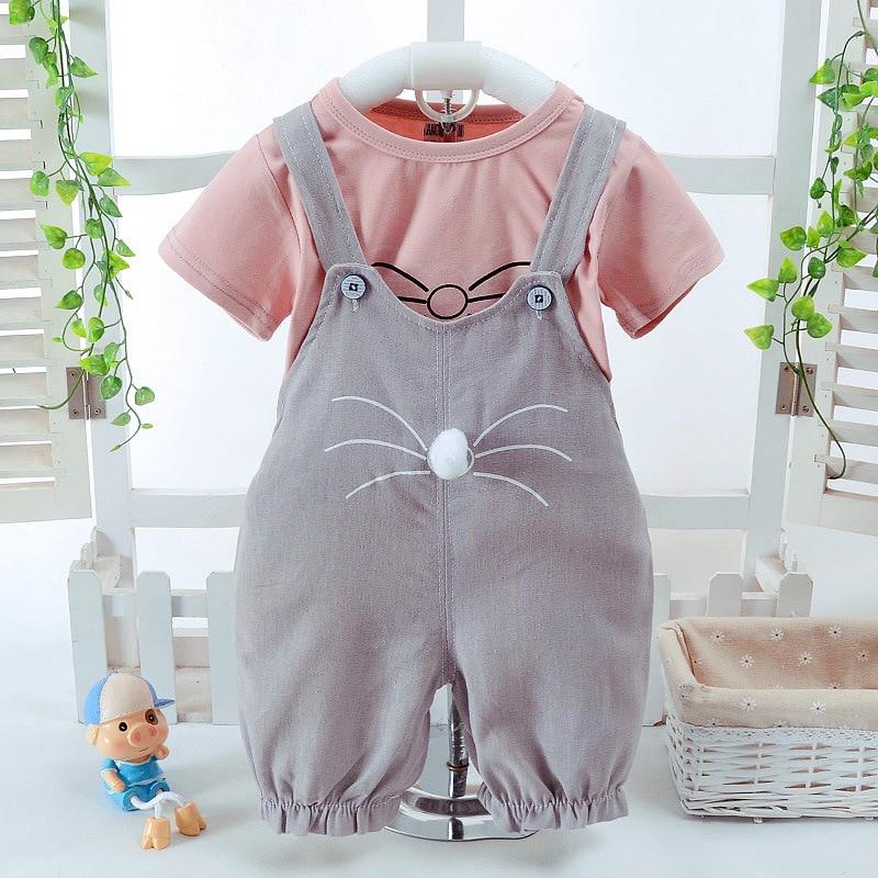 2018 Naujas mados kūdikių mergaičių drabužių rinkinys Vasaros - Kūdikių drabužiai - Nuotrauka 3