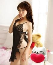 Black Sex Lingerie Sexy Underwear Women's Sexy Lingerie Lace Dress Underwear Black Babydoll Sleepwear