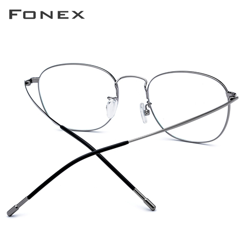 Titanium Alloy Glasses Frame Men Ultra Light Full Square Myopia Prescription Eyeglasses 2018 Fashion Women Optical Frame Eyewear Islamabad
