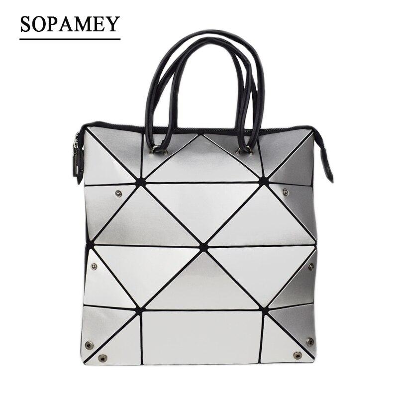2018 New Women Bag Famous Brand Geometric Folding Women Messemger Shoulder Bags High quality Bao Ladies Tote Bags Handbags