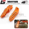 Orange CNC Foot Pegs Pedals Rest Brackets Pillion Hangers fit For KTM Duke 125 200 390