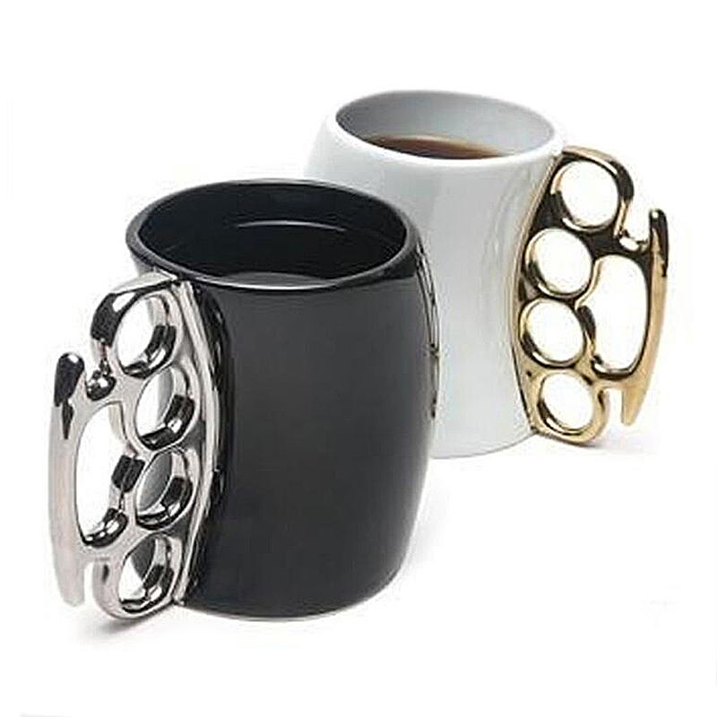 Boxing Style Ceramic Morning Mugs Creative Ceramic Coffe Tea Milk Cups Good Gift for Friends 350ml Funny Mug SH196