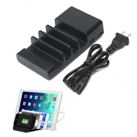 Universal 4 Port Multi USB Home Charging Station Stand Desktop Charger Dock Adapter For IPhone Samsung