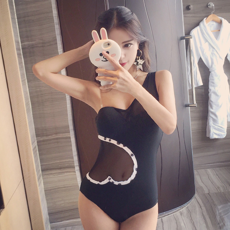 New Black One Piece Swimsuit 2017 Women Sexy Push Up Bathing Suit One Shoulder Swimwear Backless Beachwear Monokini Female 2017 sexy push up dress one piece suit boxers pleated show thin swimsuit bathing suit for women girl swimwear beachwear m 2xl