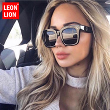 LeonLion 2019 Square Luxury Sunglasses Women Brand Designer Glasses Man/Women Classic Vintage UV400 Outdoor Oculos De Sol