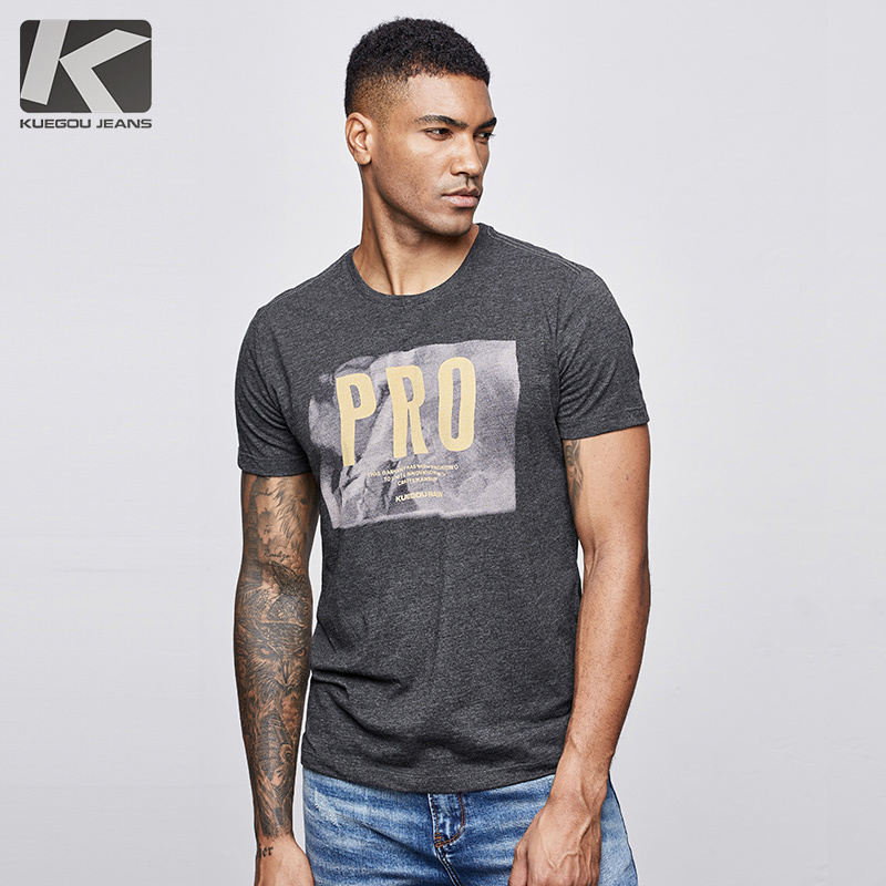Summer 2019 Men T Shirt Cotton Print Black Grey Letter For Man Fashion Short Sleeve Slim Fit New T-shirt Male Tops Tee Shirt 418