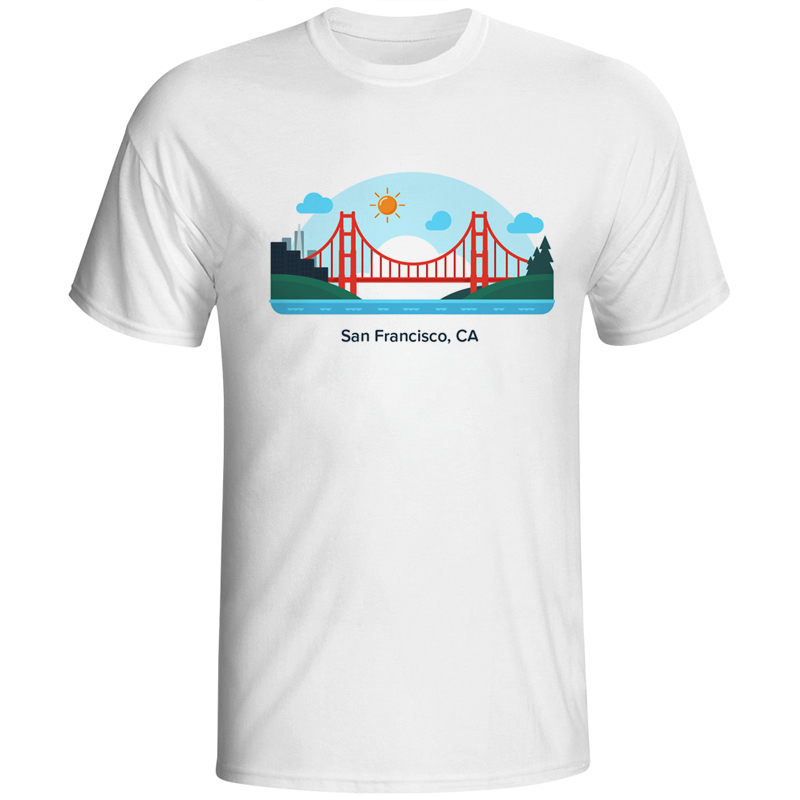 Men T Shirts T-shirt Male California San Francisco T-shirts For Man Tees T Shirt Tops Tees Fashion Clothes Top Homme Printed