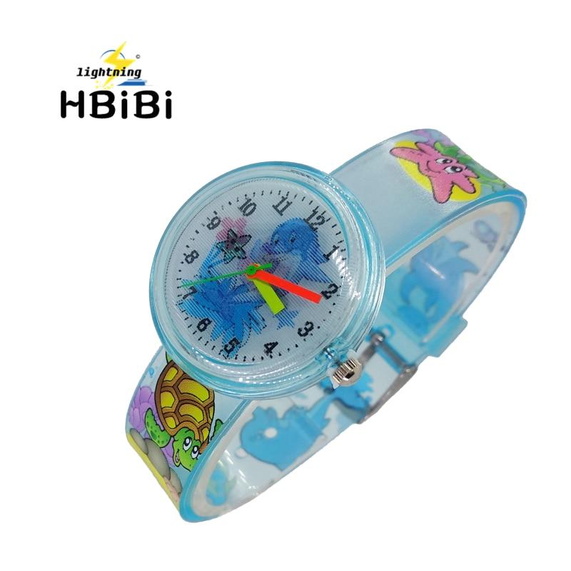 New Listing Underwater World Dolphin Child Student Watch For Girls Boys Clock Fashion Kids Watches Children Quartz Wristwatches