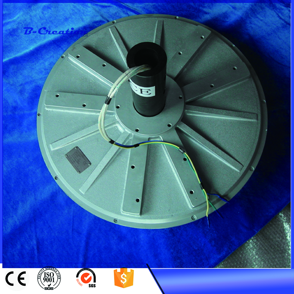 5kw 220v/380VAC 100RPM vertical axis wind turbine disc coreless Low ...