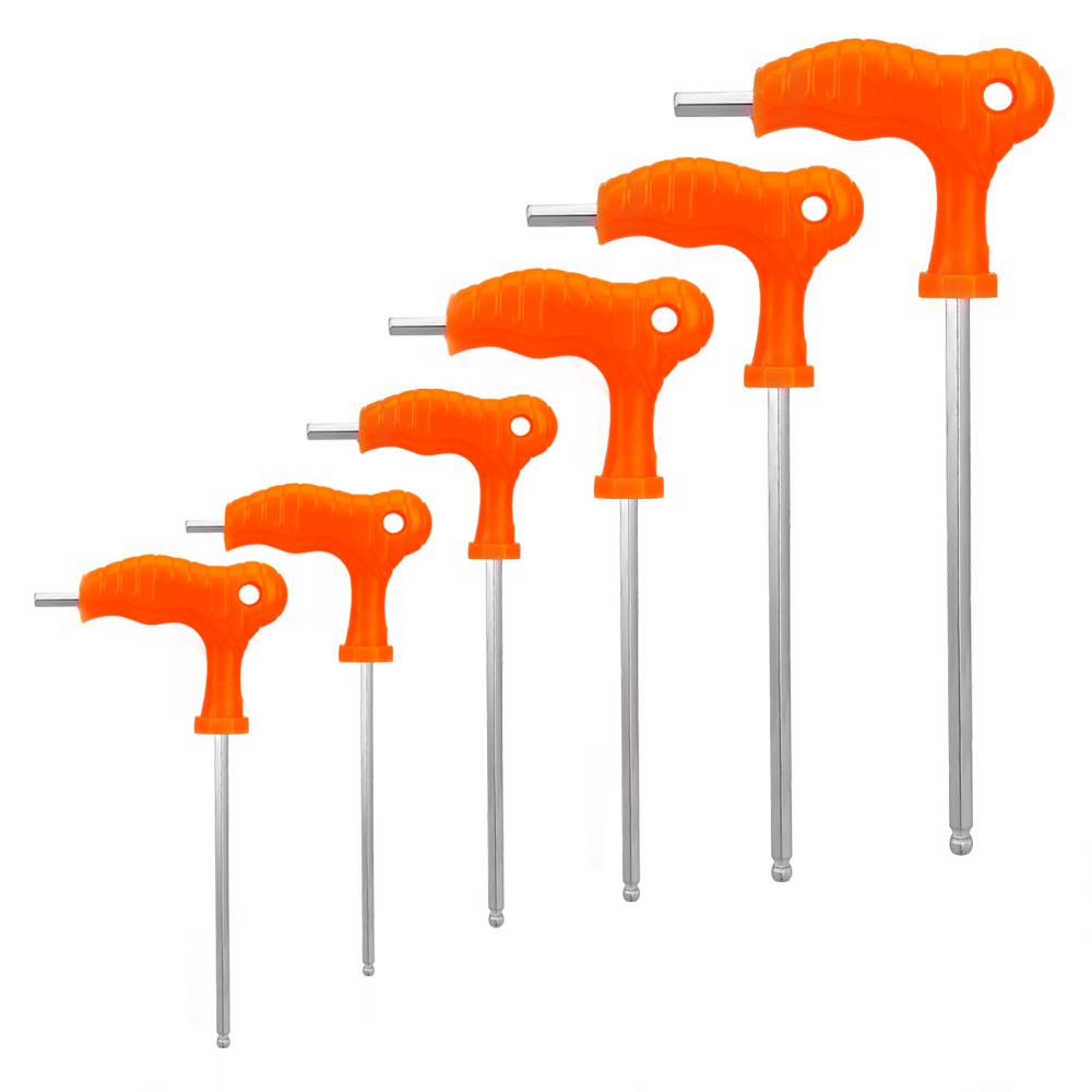 Hex Key Wrench 2.5mm 3mm 4mm 5mm 6mm 8mm High-carbon Steel Hex Key Wrench T Handle Inner Hexagon Allen Wrench Spanner Hand Tool