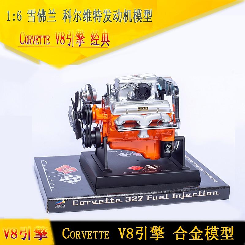 Rare 1/6 CORVETTE 327 FUEL INJECTION LIBERTY AUTHENTIC DIE-CAST MODEL ENGINE