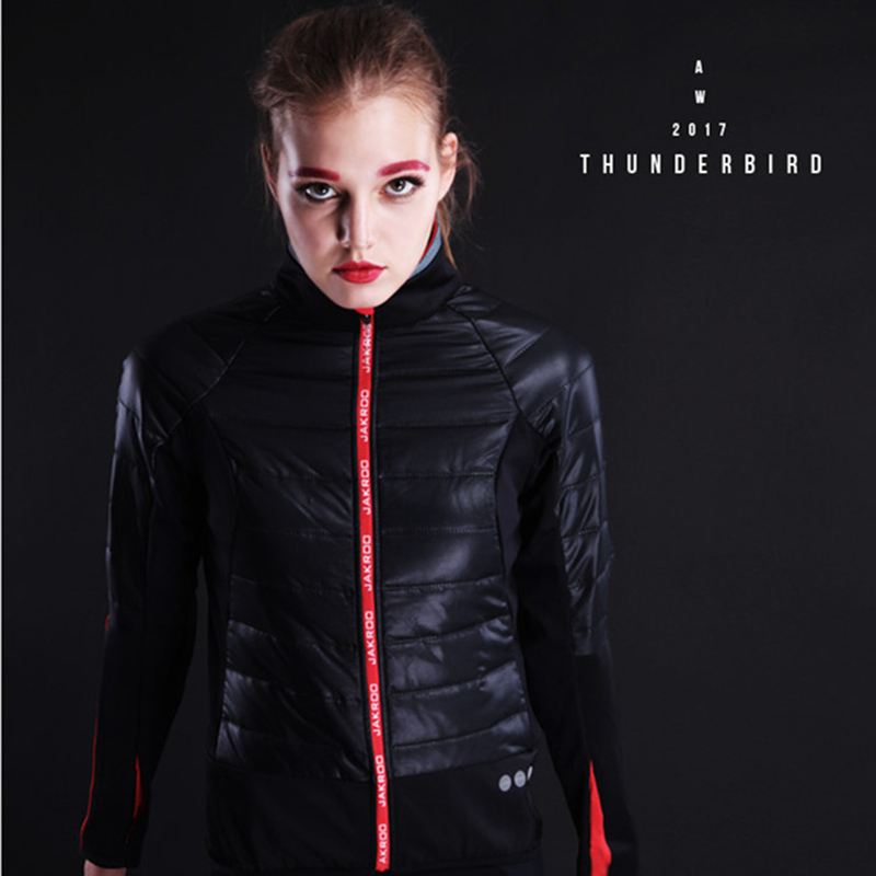 Jakroo TB Female Autumn Winter Cycling Jacket Thermal Warm Up Fleece High Neck Cycling Jersey Windproof Waterproof Bike Clothing детектор testboy tb 28