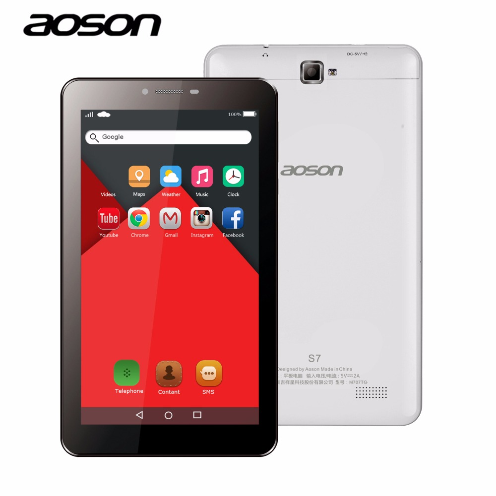 ФОТО NEW!Aoson S7 7 inch 3G WCDMA phone call tablet Android 5.1 IPS Sreen Dual SIM Dual Camera GPS WIFI Bluetooth 4.0 3G Phablet