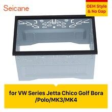 Seicane 2 Din Car Radio Fascia Frame for VW Series Jetta Chico Golf Bora/Polo/MK3/MK4 Car Kit Stereo