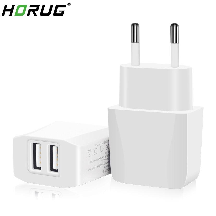 HORUG 5V 2.1A Fast USB Charger Dual USB