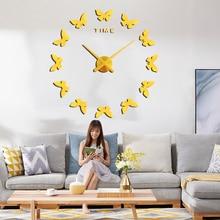 Diy 3d Acryl Spiegel sticker Large Home Quartz Circulaire Naald Modern New Wall Clock Clocks Horloge Horloge Murale Gratis verzending