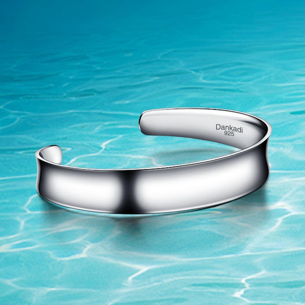 Zcela nový náramek a náramky 925; milenci Unisexu 925 Pure Silver Náramek; Stříbrné šperky; Smooth Surface Contracted Fashion
