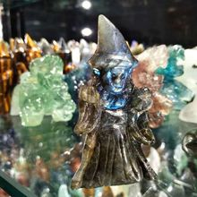 цены natural fluorspar and labradorite figurine stone necroma sculpture decorated statue wizard stones and crystals hand carved