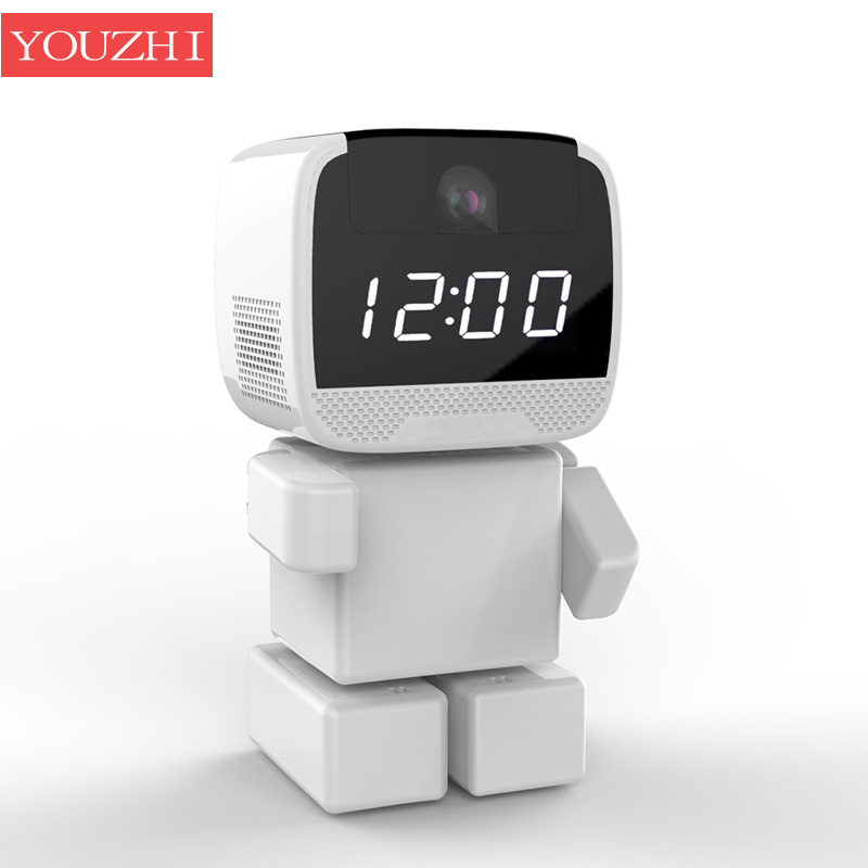Wireless Robot 960P IP Camera WIFI Clock Network CCTV Remote Control Home Secure Night Vision Two Way Audio Baby Monitor YOUZHI brand new car remote robot wifi camera support smart phone remote control wire charging automatic recharge ip secuirity camera