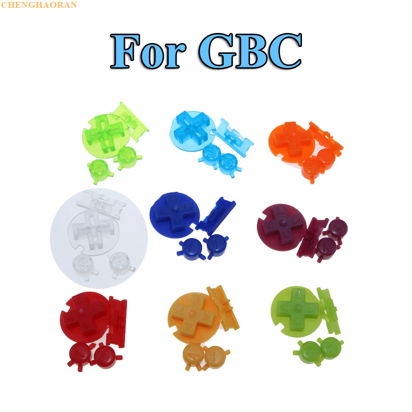 ChengHaoRan 13Colors 1set Colorful Replacement keys Set Replacement For Gameboy Color GBC On Off Button AB Buttons D Pads(China)