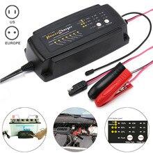 12 В 2/4/8A Автоматический Смарт-автомобильная Батарея Зарядное устройство 7-Stage сопровождающий и desulfator батареи