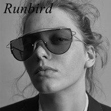 Runbird Hombres de Gran Tamaño de Lujo Doble Vigas Integrado Grande Gafas de Sol Mujeres Steampunk Marca Diseño Gafas De Sol UV400 262R