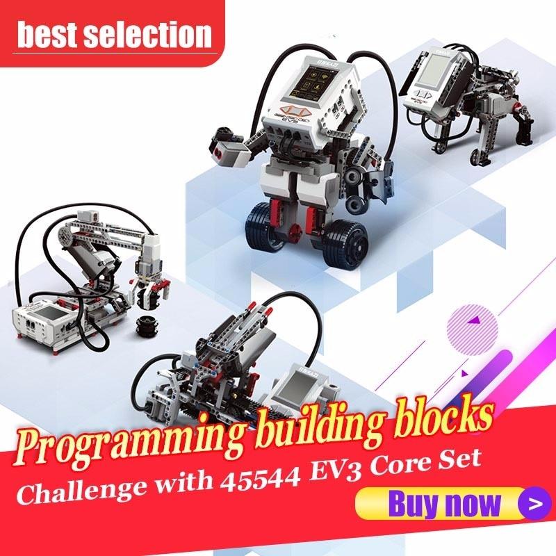 Программирование строительные блоки технологические аксессуары развивающий набор пар 822 шт. совместим с 45544 EV3 основной набор