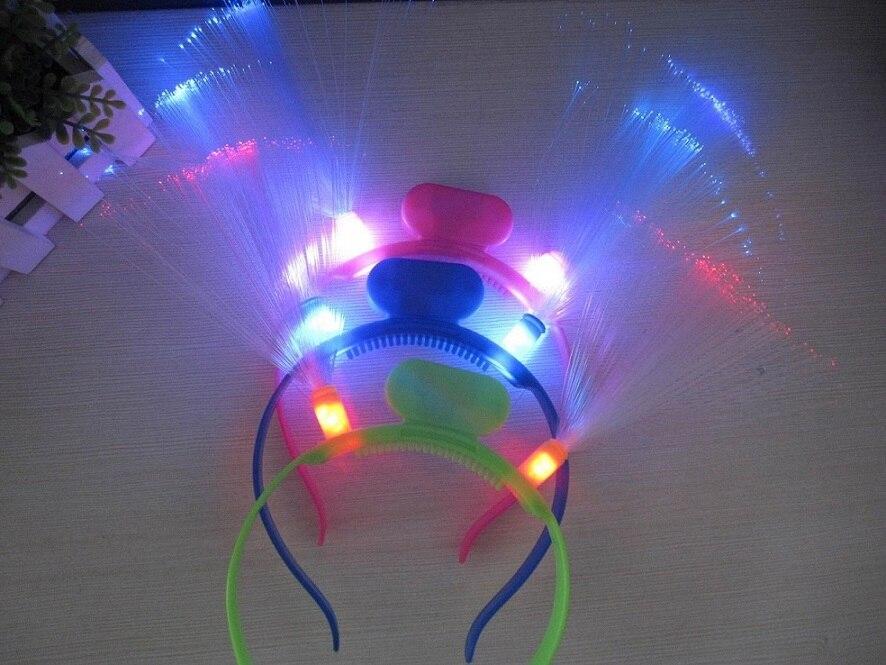 20pcs / lot Svijetleći LED vlakna rog stranka žare traka za kosu - Za blagdane i zabave - Foto 2