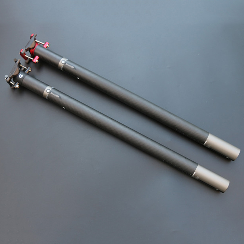 New ASIACOM Full Carbon Fiber Folding Bicycle Seat Post Adjustable Bike Seatpost Bicycle Parts 3K Matte 33.9/34.9*580mm