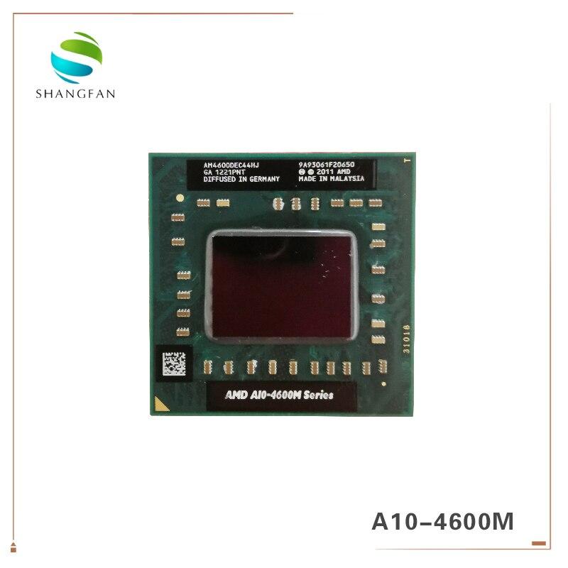 AMD laptop Móvel A10 4600M A10-4600m AM4600DEC44HJ original Soquete FS1 (FS1R2) CPU 4M Cache/2.3 GHz/Quad-Core processor
