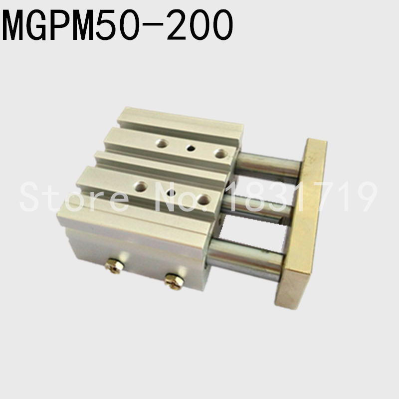 SMC Type MGPM50-200Z Thin cylinder with rod MGPM 50-200Z Three axis three bar MGPM50*200Z Pneumatic components MGPM50X200Z satin furniture бюро