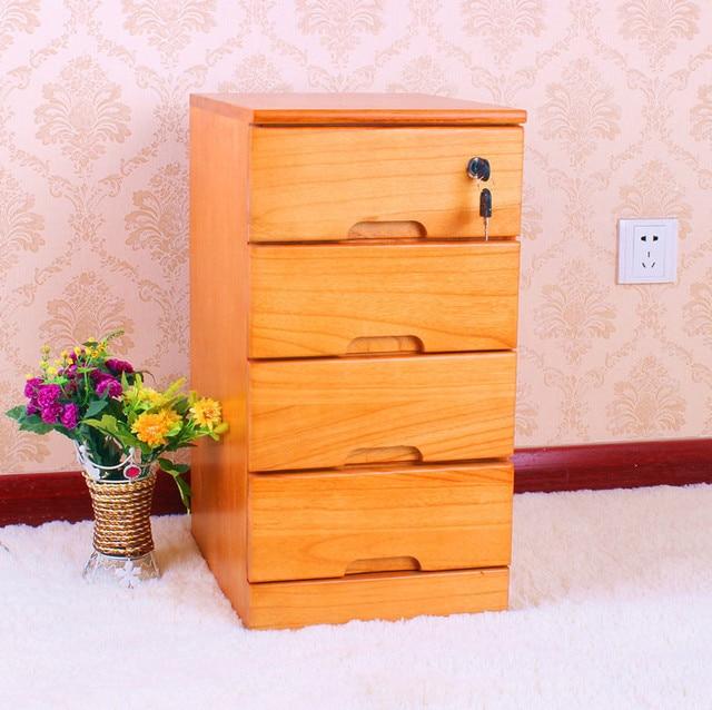 EC FURNITURE Small Wood Bedside Cabinet Bedside Cabinet Modern Minimalist  Narrow 29 Wide White Lockable File