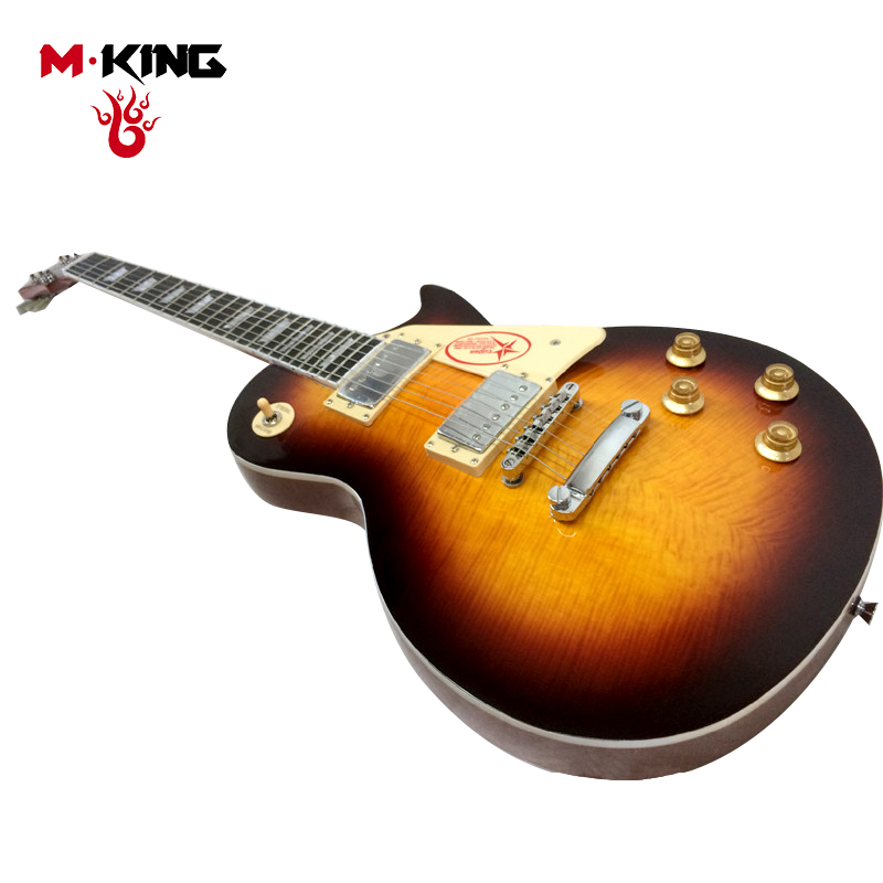 m king standard lp high quality maple electric guitar body material solid wood pu selector 3 way